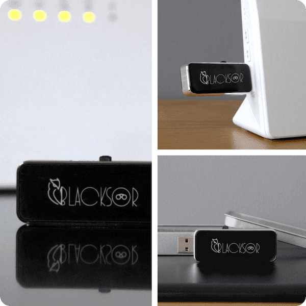 BlackSor plug-and-play router security system protects your family & friends
