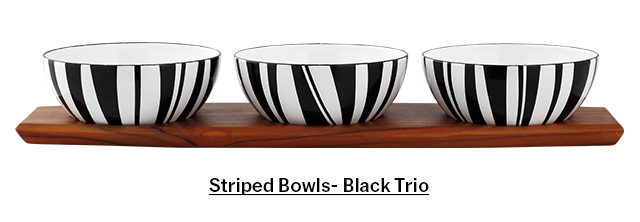 Striped Bowl - Trio Black