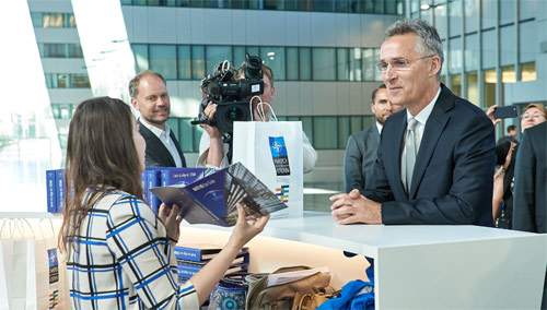 First day at the New NATO Headquarters for NATO Secretary General