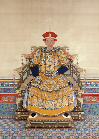 Portrait of the Kangxi Emperor in a ceremonial robe