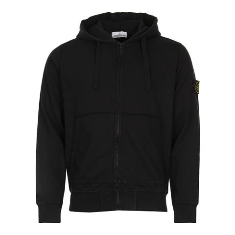 Stone Island Zip Sweatshirt in Black