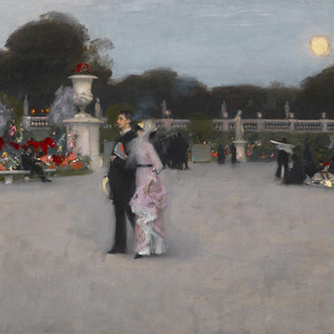 """Detail of """"In the Luxembourg Gardens"""" by John Singer Sargent"""